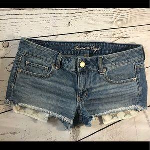 American Eagle Star Pocket Denim Cutoff Shorts